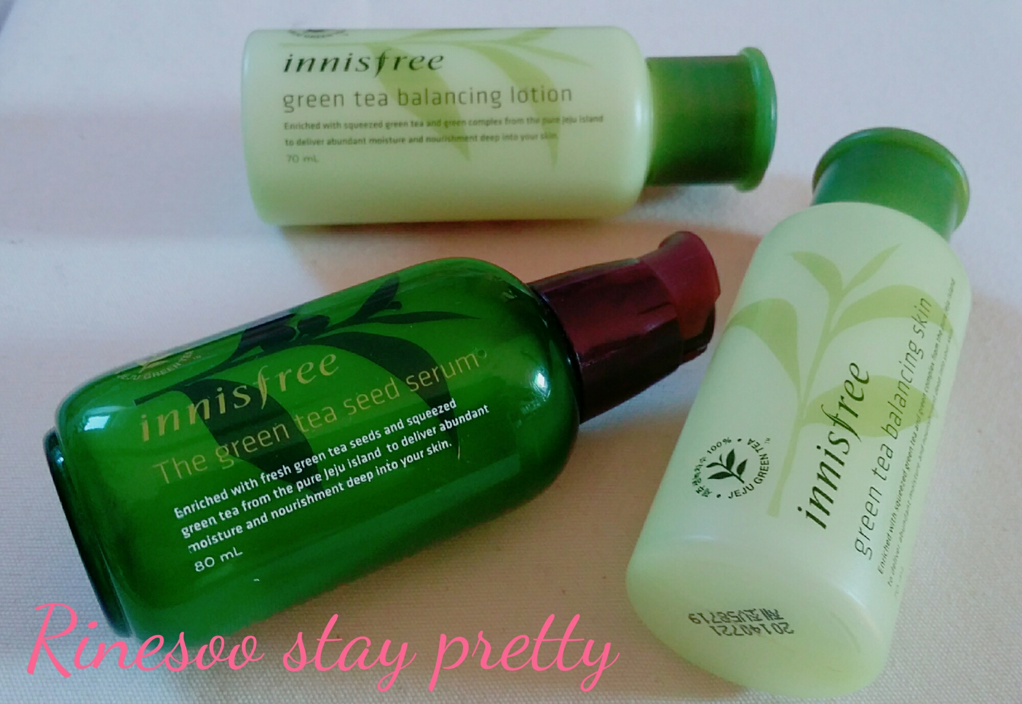 Review Innisfree The Green Tea Seed Serum Special Set Stay Pretty 80ml Image